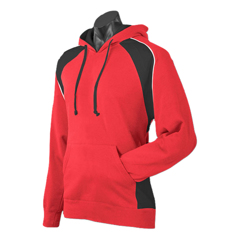 Image of Mens Huxley Hoodie - Colours Red / Black / White
