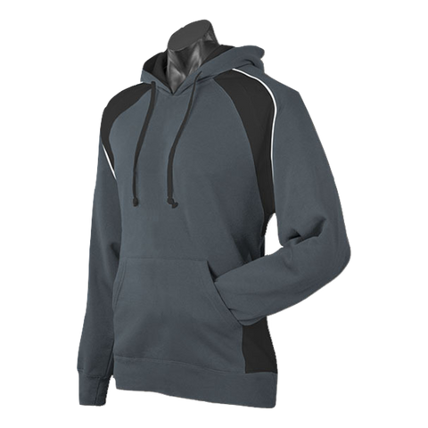 Image of Mens Huxley Hoodie - Colours Slate / Black / White