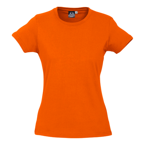 Womens Ice Tee - Colour Fl Orange