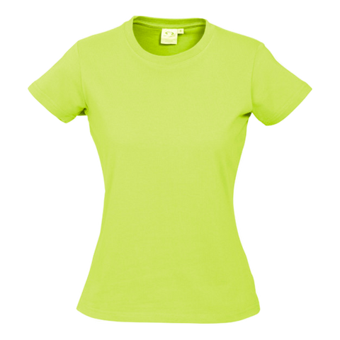 Image of Womens Ice Tee - Colour Fl Yellow