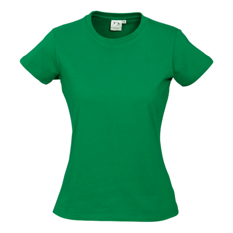 Image of Womens Ice Tee - Colour Kelly Green