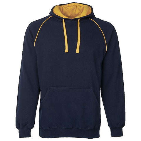 JBs Adult Contrast Fleecy Hoodie, Colour: Navy / Gold