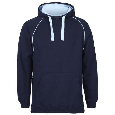 JBs Adult Contrast Fleecy Hoodie, Colour: Navy / Red
