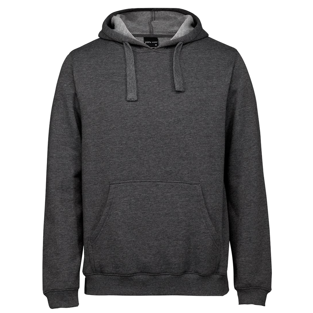 JBs Pop Over Hoodie - Colour Charcoal Marle