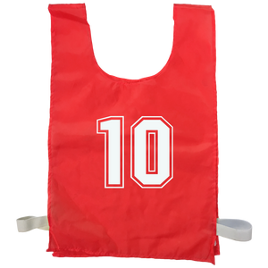 Numbered Sports Bibs - 10 Set
