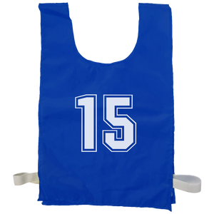 Numbered Sports Bibs - 15 Set, Size: XL (56 x 38 cm), Colour: Blue