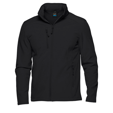 Image of Mens Olympus Softshell Jacket, Colour: Black