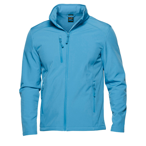Image of Mens Olympus Softshell Jacket, Colour: Cyan