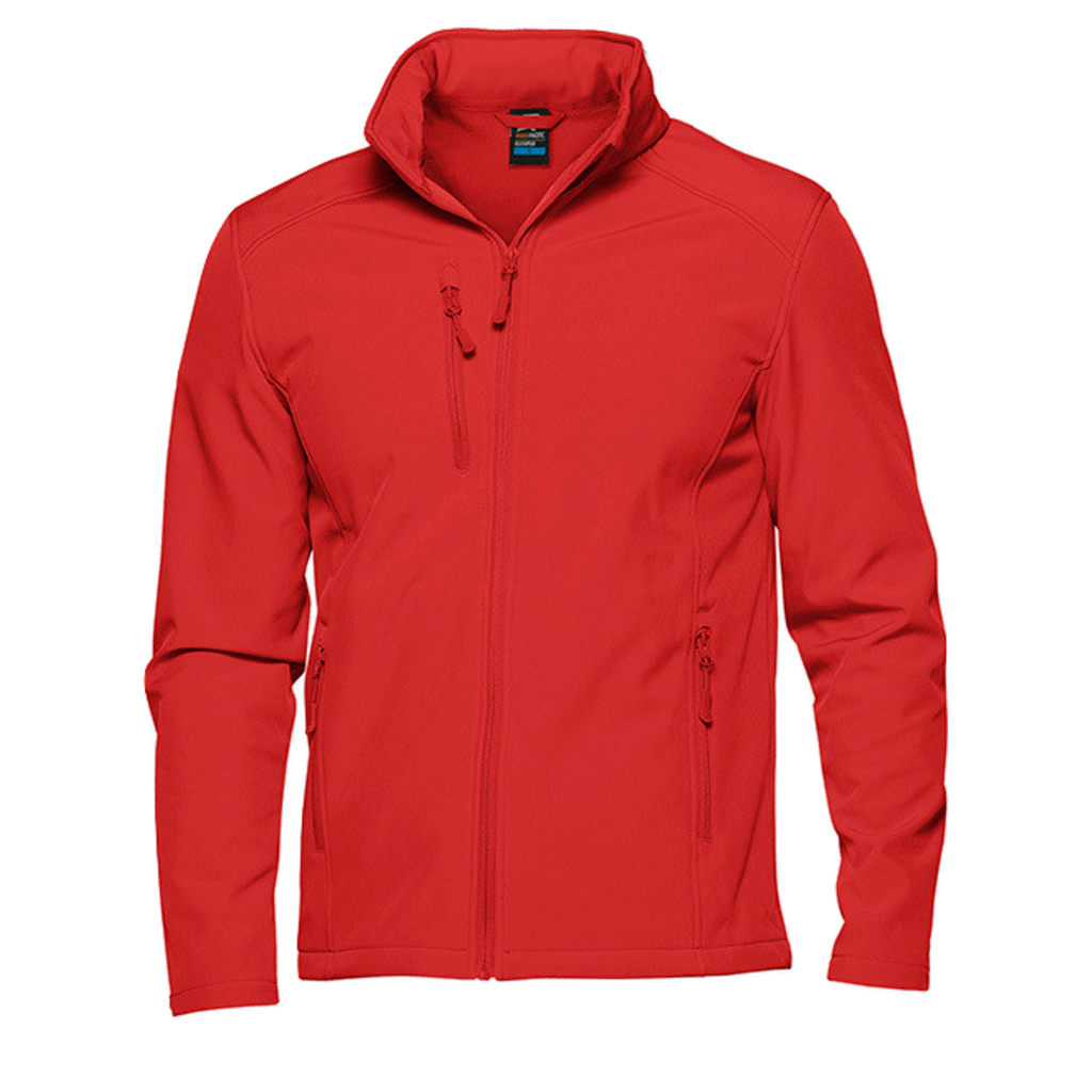Mens Olympus Softshell Jacket, Colour: Red