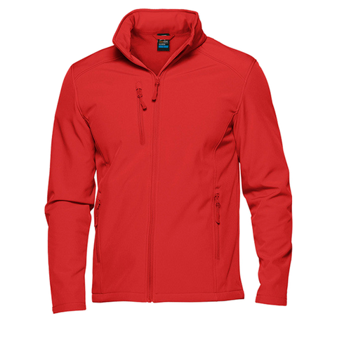 Image of Mens Olympus Softshell Jacket, Colour: Red