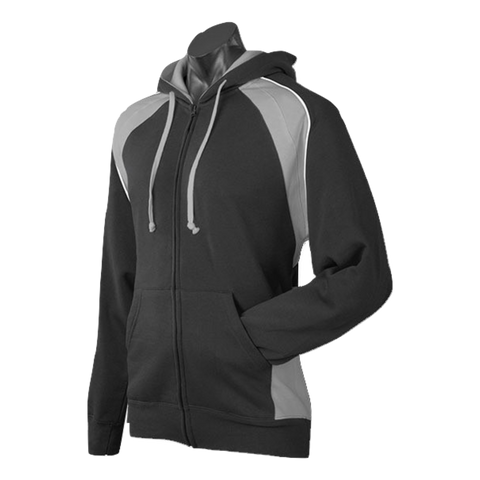 Image of Mens Panorama Zip Hoodie - Colours Black / Ashe / White