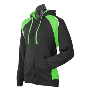 Mens Panorama Zip Hoodie - Colours Black / Green / White