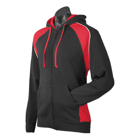 Image of Mens Panorama Zip Hoodie, Colours: Black / Red / White