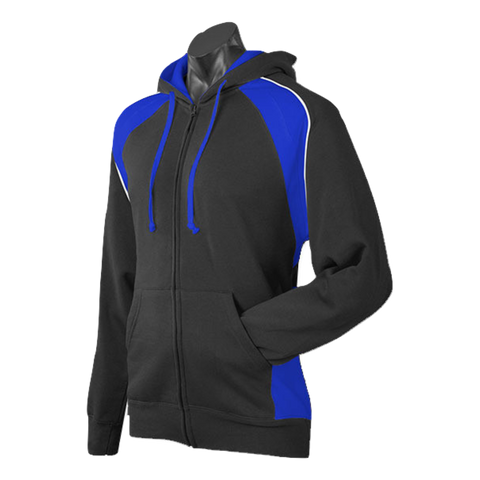 Image of Mens Panorama Zip Hoodie - Colours Black / Royal / White