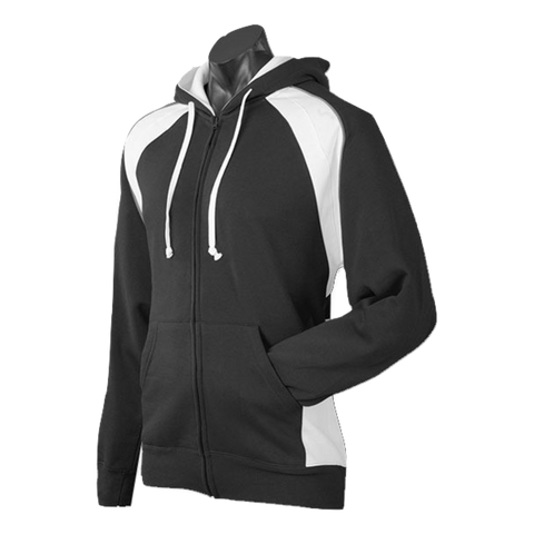 Image of Mens Panorama Zip Hoodie, Colours: Black / White / Ashe