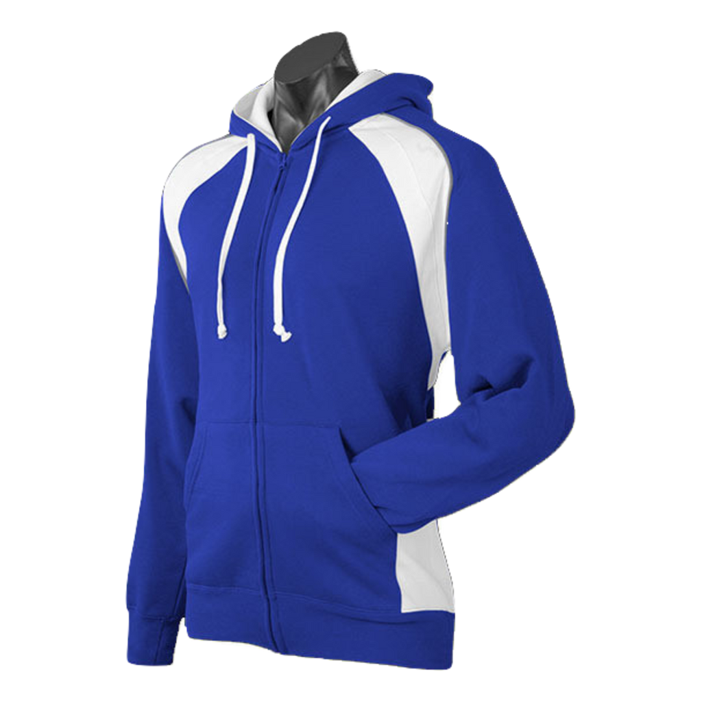 Mens Panorama Zip Hoodie, Colours: Royal / White / Ashe
