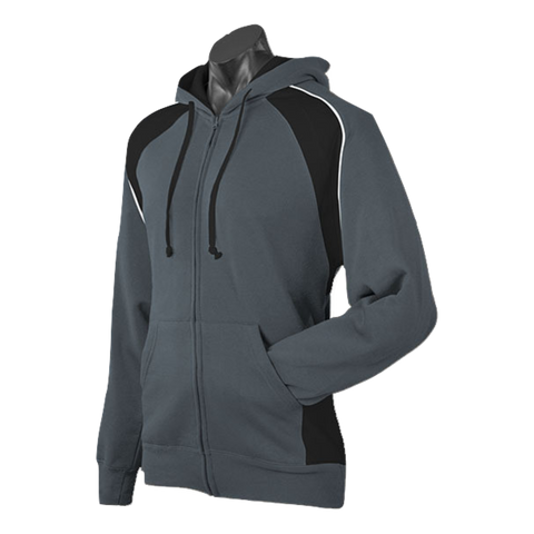 Image of Mens Panorama Zip Hoodie - Colours Slate / Black / White