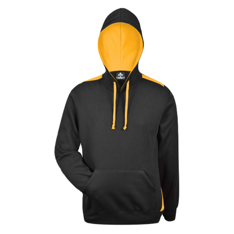 Image of Mens Paterson Hoodie, Colours: Black / Gold