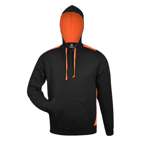 Image of Mens Paterson Hoodie - Colours Black / Orange