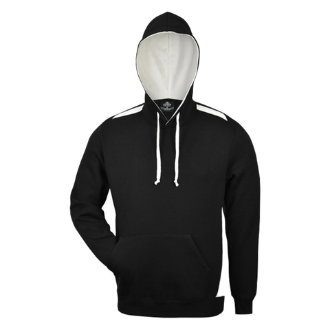 Image of Mens Paterson Hoodie - Colours Black / White
