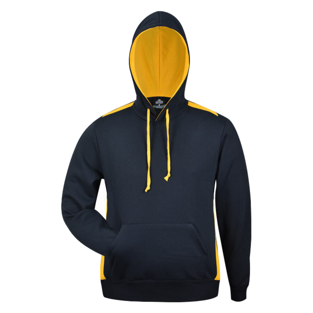 Mens Paterson Hoodie, Colours: Navy / Gold