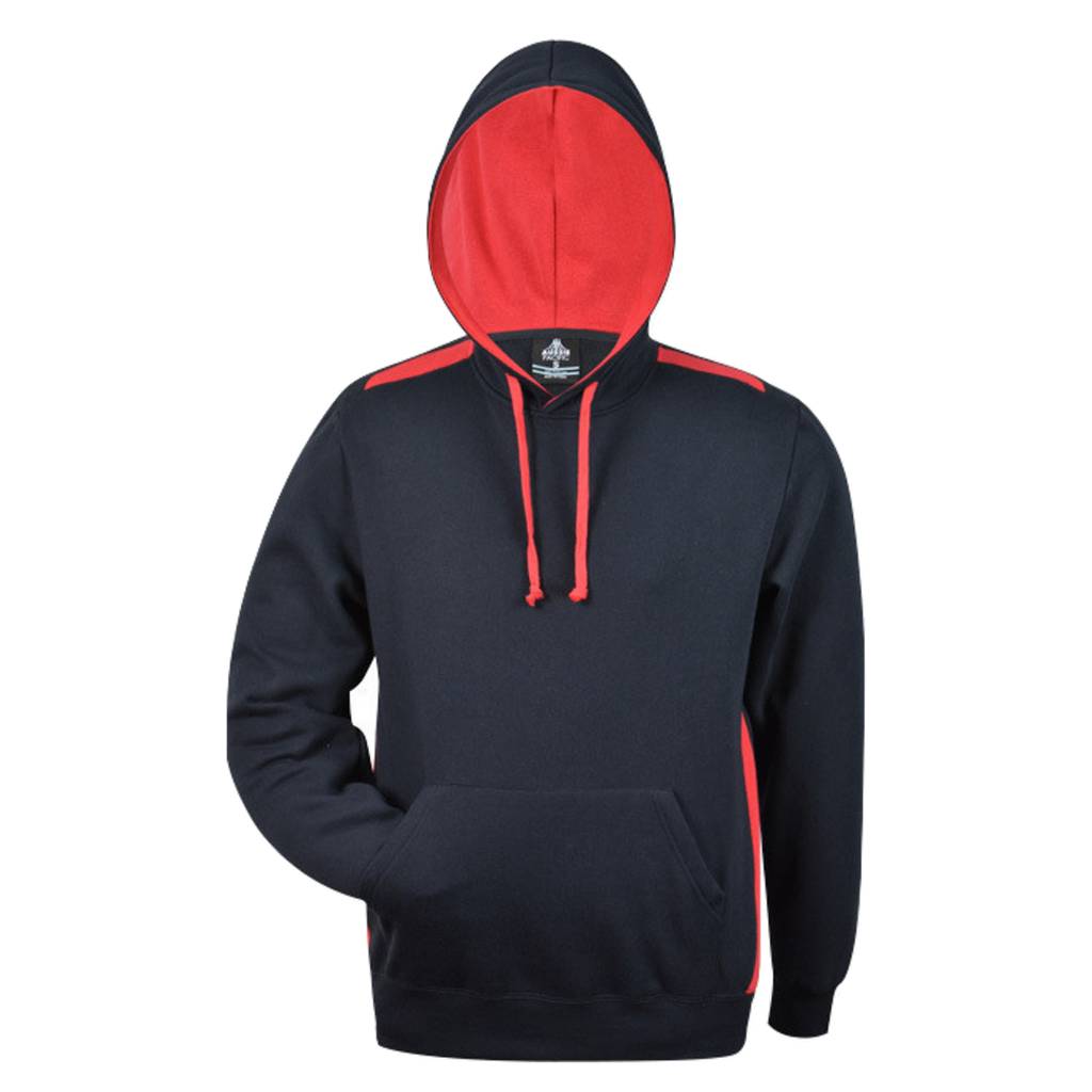 Mens Paterson Hoodie, Colours: Navy / Red