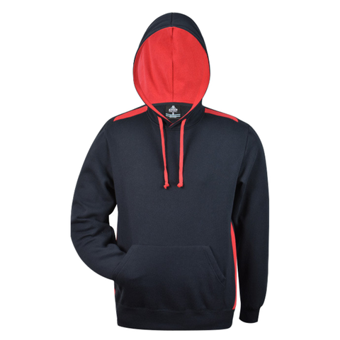 Image of Mens Paterson Hoodie, Colours: Navy / Red