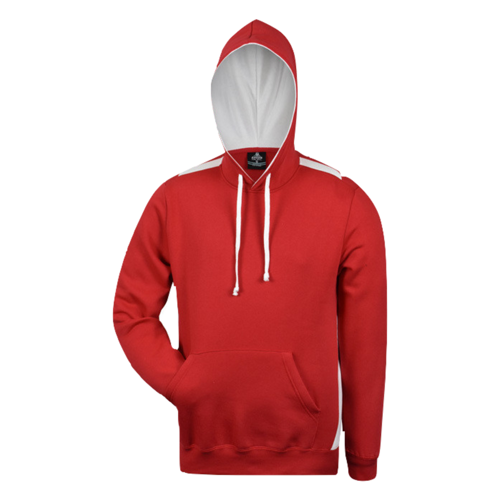 Mens Paterson Hoodie, Colours: Red / White
