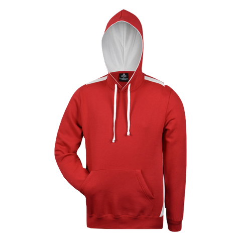 Image of Mens Paterson Hoodie, Colours: Red / White