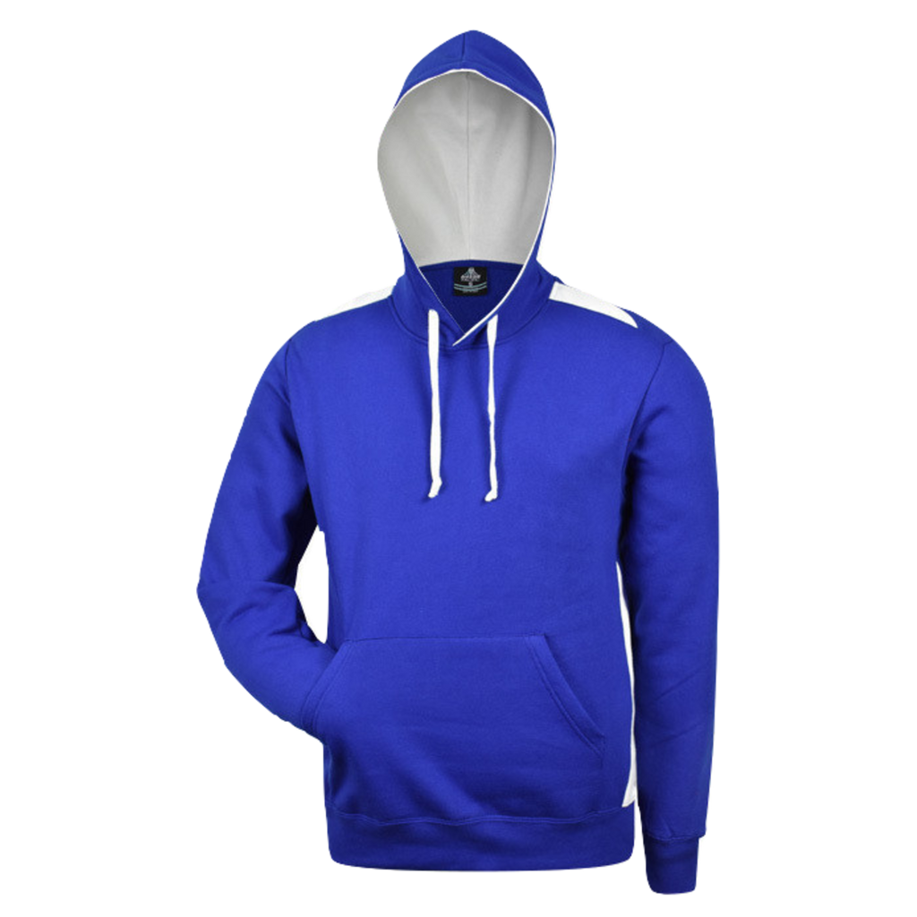 Mens Paterson Hoodie, Colours: Royal / White