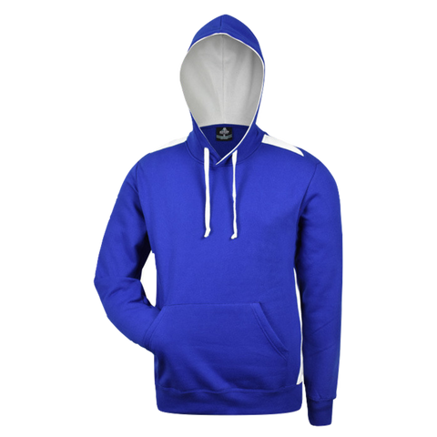 Image of Mens Paterson Hoodie, Colours: Royal / White