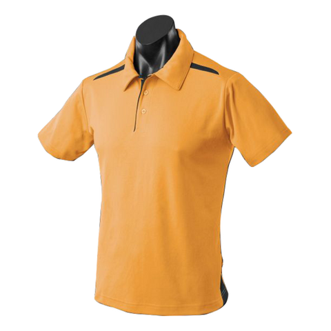 Image of Kids Paterson Polo, Colours: Gold / Black