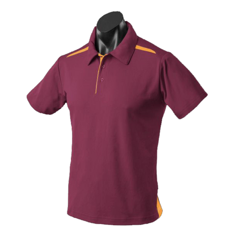 Image of Kids Paterson Polo, Colours: Maroon / Gold