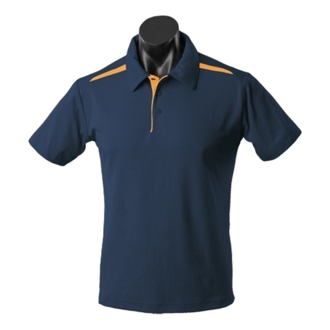 Image of Kids Paterson Polo, Colours: Navy / Gold