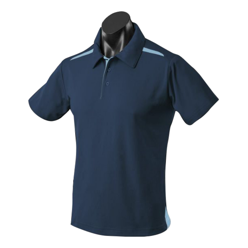 Kids Paterson Polo, Colours: Navy / Sky