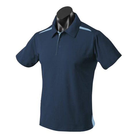 Image of Kids Paterson Polo, Colours: Navy / Sky