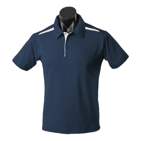 Image of Kids Paterson Polo, Colours: Navy / White