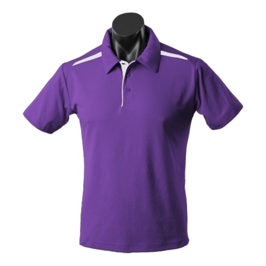Kids Paterson Polo, Colours: Purple / White