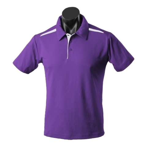 Image of Kids Paterson Polo, Colours: Purple / White