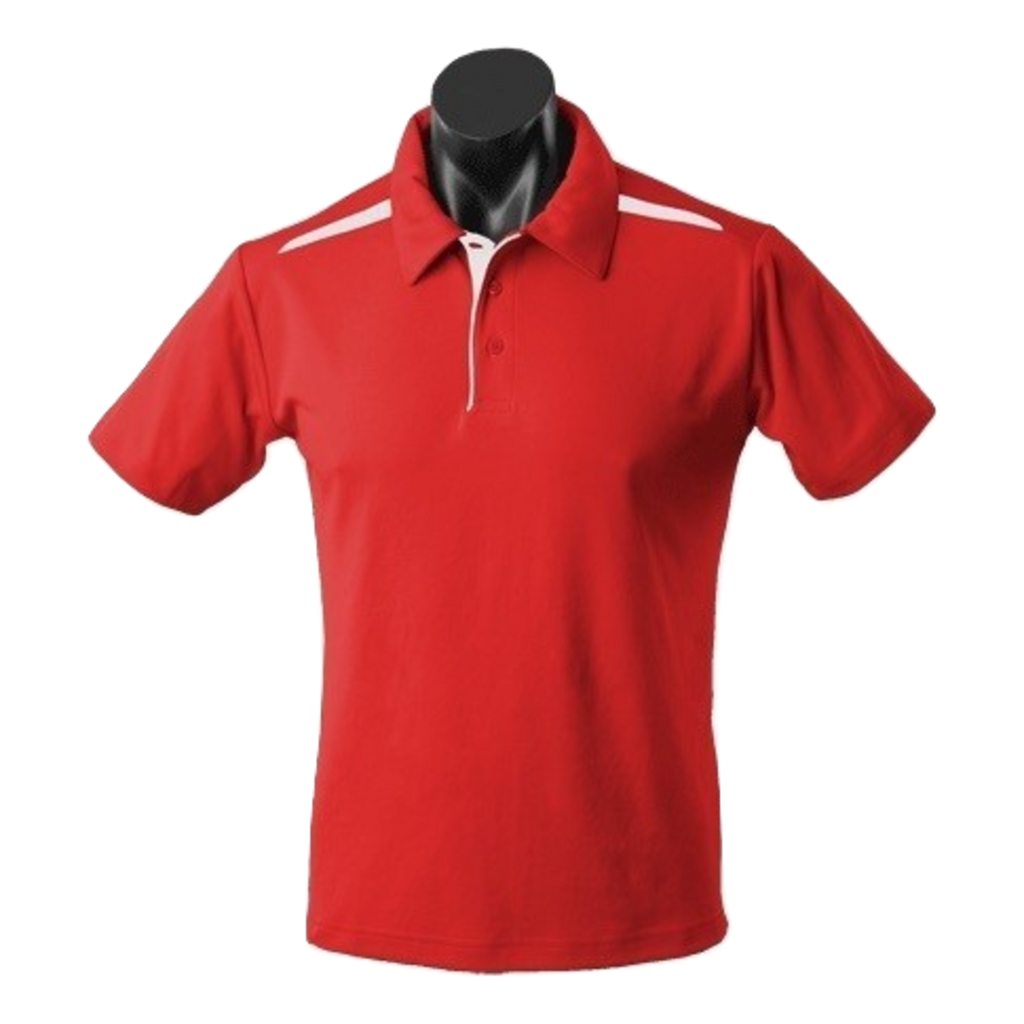 Kids Paterson Polo, Colours: Red / White