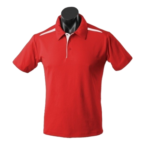 Image of Kids Paterson Polo, Colours: Red / White