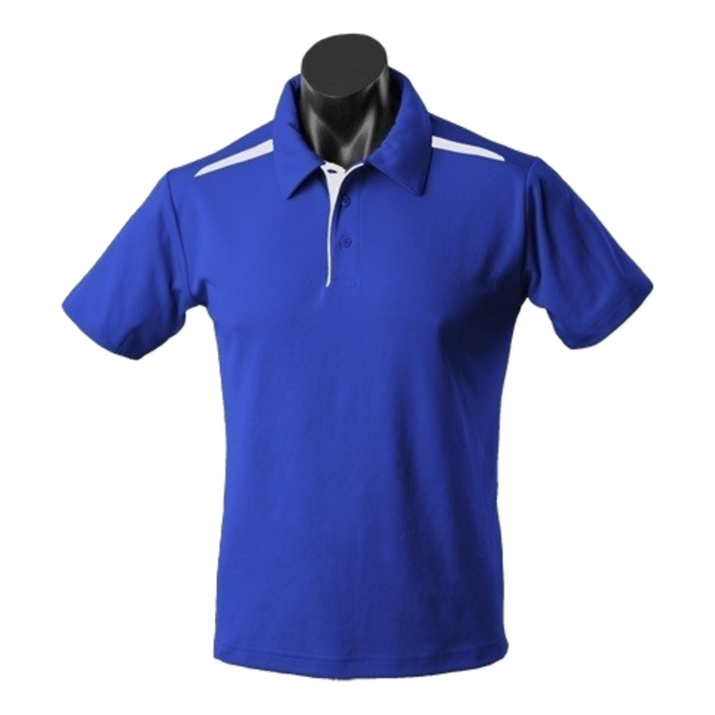 Kids Paterson Polo, Colours: Royal / White