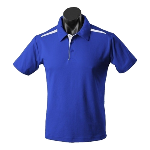 Image of Kids Paterson Polo, Colours: Royal / White
