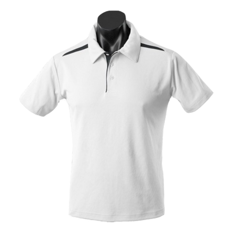 Image of Mens Paterson Polo - Colours White / Black