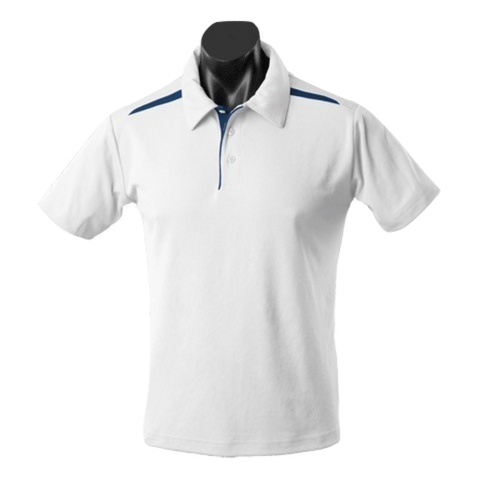 Mens Paterson Polo - Colours White / Navy