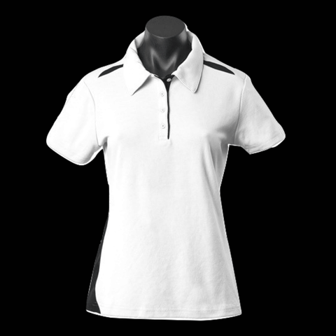 Image of Womens Paterson Polo - Colours White / Black