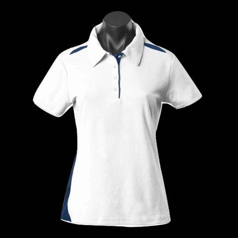 Womens Paterson Polo - Colours White / Navy