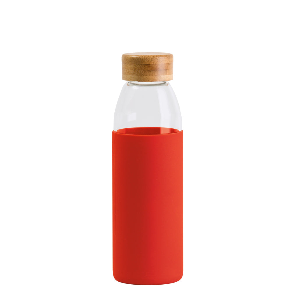 Orbit Glass Bottle, Colour: Red