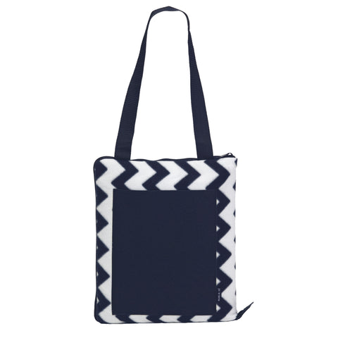 Image of Oasis Outdoor Blanket - Colour Navy/White