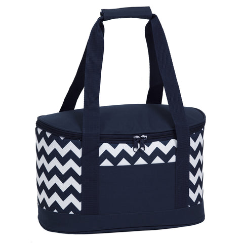 Image of Oasis Chevron Cooler, Colour: Navy/White